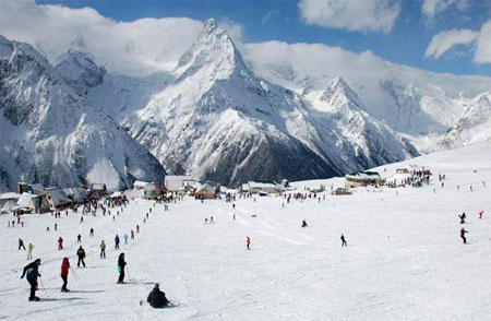 фото домбай горнолыжный курорт